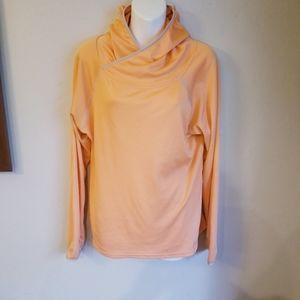 Patagonia workout light orange hoodie w/ thumbhole